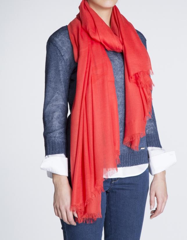 Foulard liso rojo