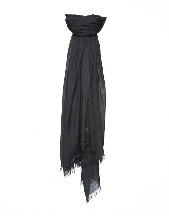 Plain black scarf