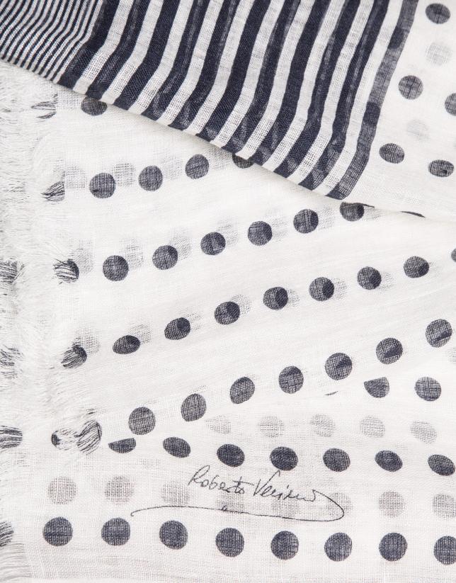 Foulard topos azul marino