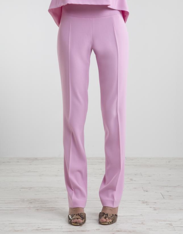 Pantalon rose taille ample