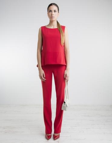 Pantalón cintura ancha rojo