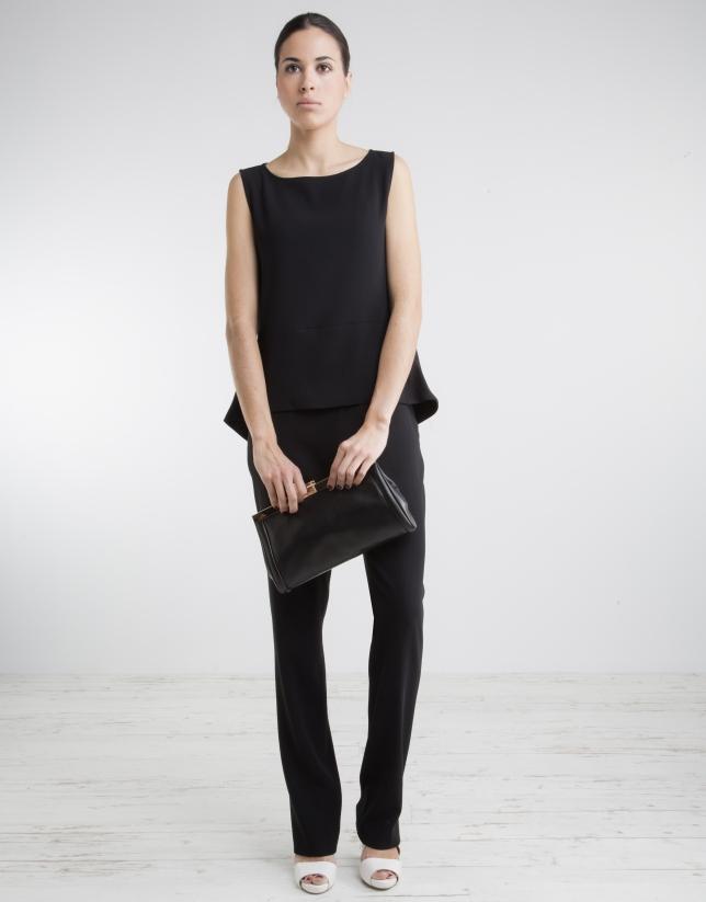 Pantalón cintura ancha negro