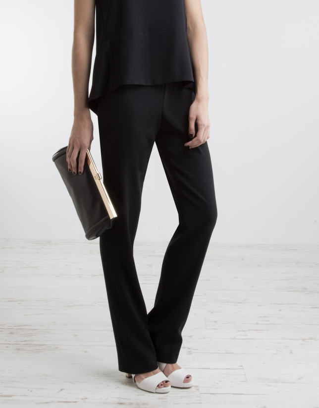 Black pants with wide waist