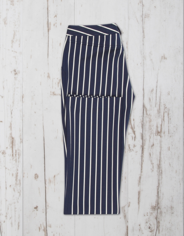 Cheap Blue White Striped Wide Leg Pants only US$ , Pants & Culotte Drop Shipping from China Bottoms Wholesaler.