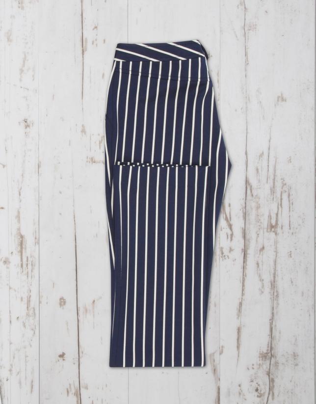 Navy blue/white striped pants