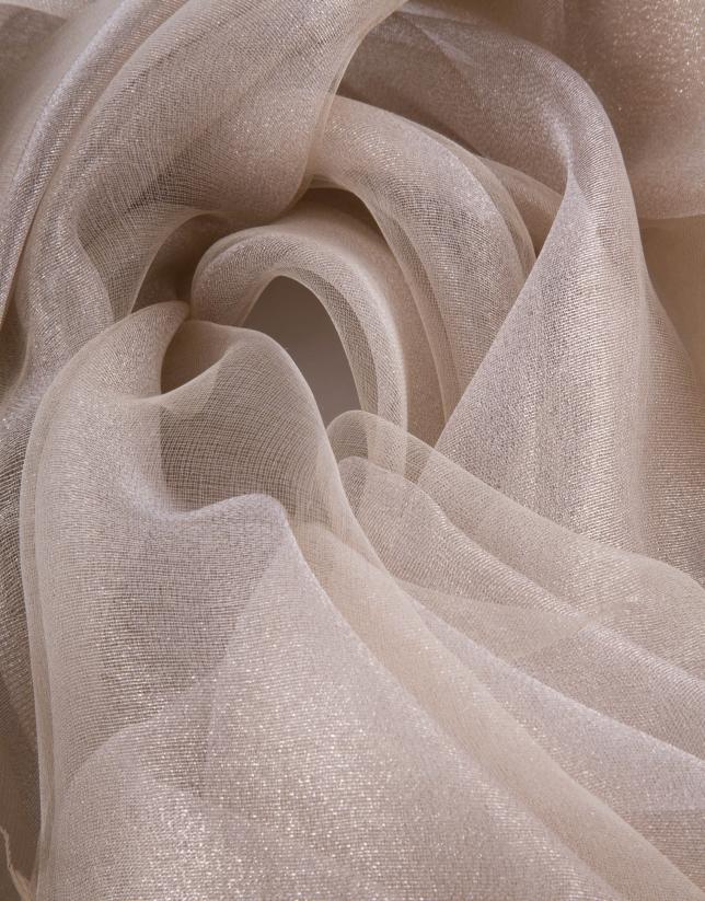 Foulard lurex beige