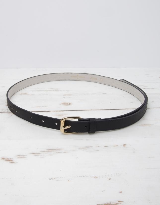 Cinturón piel azul marino