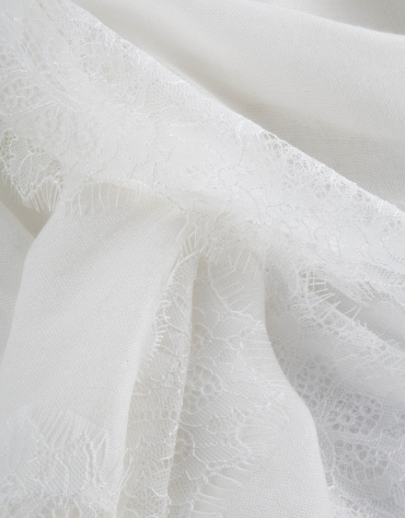 Foulard puntilla blanco