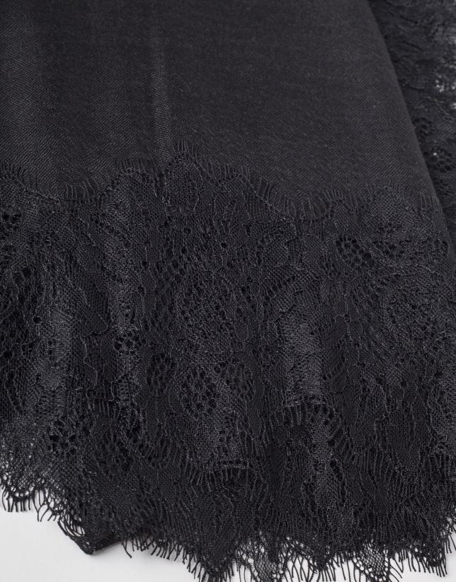 Etole dentelle noire