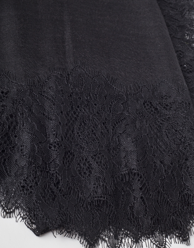 Foulard puntilla negro