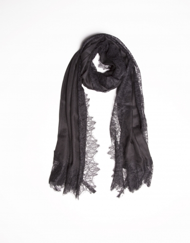 Black lace scarf