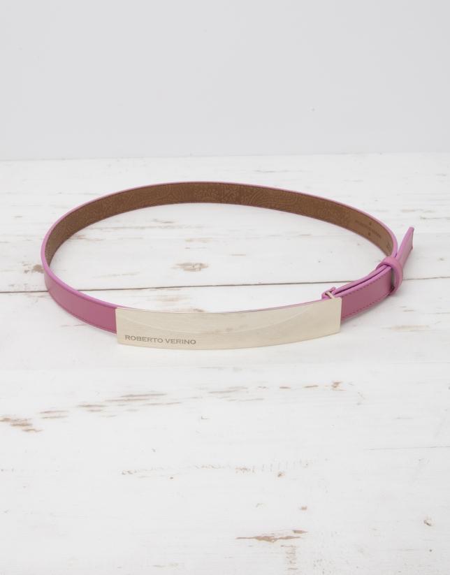 Cinturón piel rosa