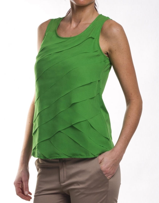 Cotton-silk top