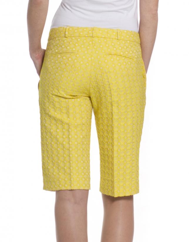 Bermuda Brocart jaune