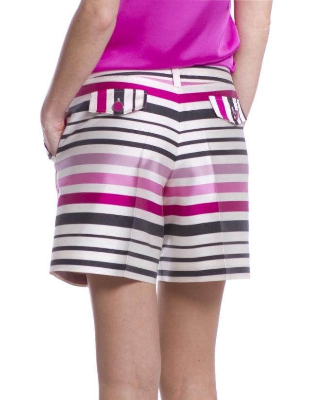 Striped bermudas