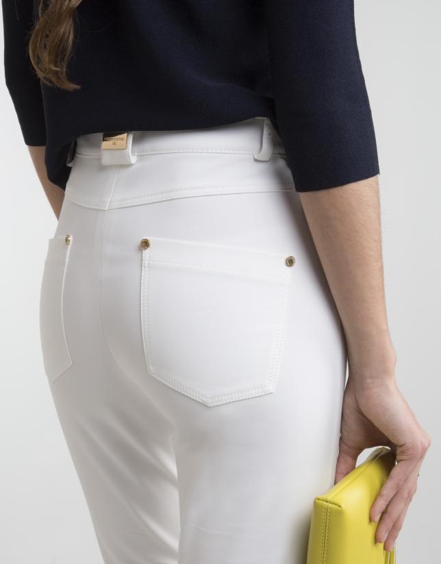 Off-white high waist pants