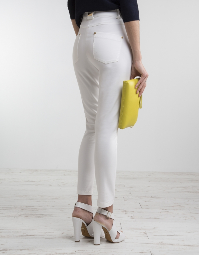 Off-white high waist pants