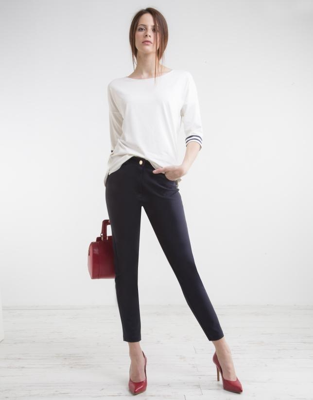 Navy blue high waist pants