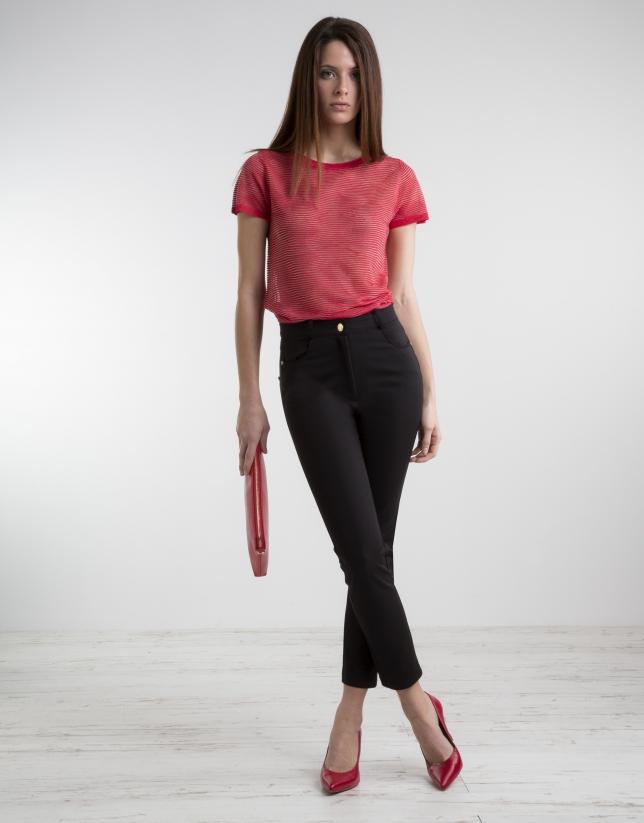Pantalon noir taille haute