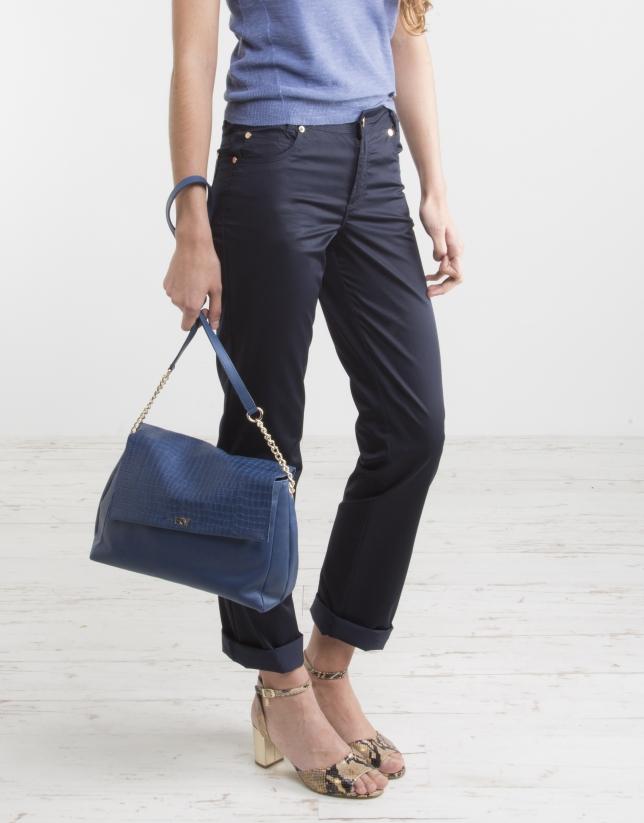 Pantalon cinq poches bleu marine