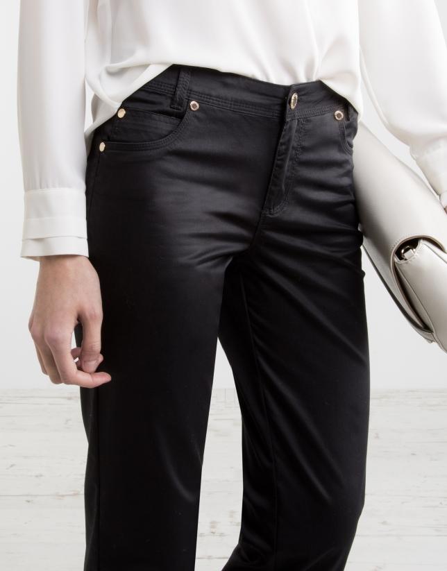 Pantalon cinq poches noir