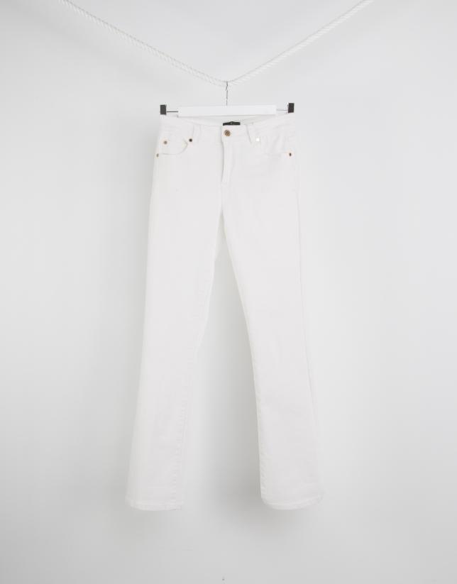 Pantalon coupe trapèze blanc
