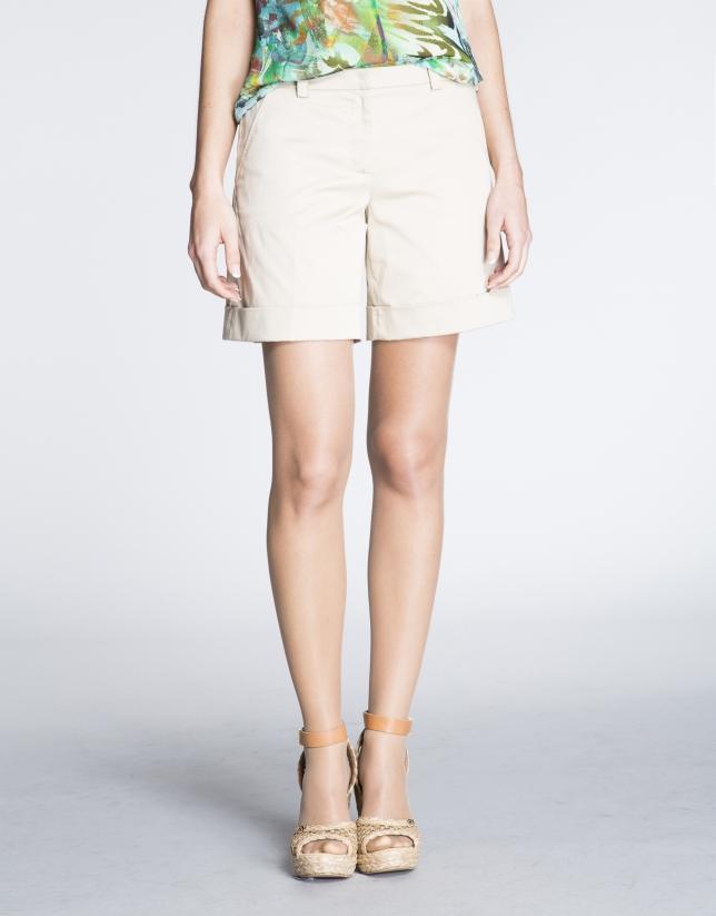 Pantalón corto  beige