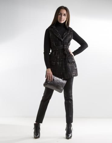 Chaleco de lana marrón