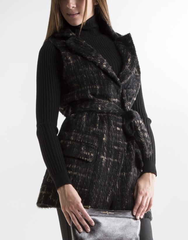 Brown wool vest