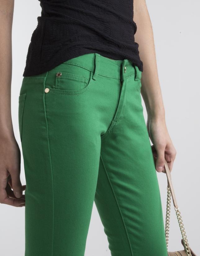 Pantalón strech verde