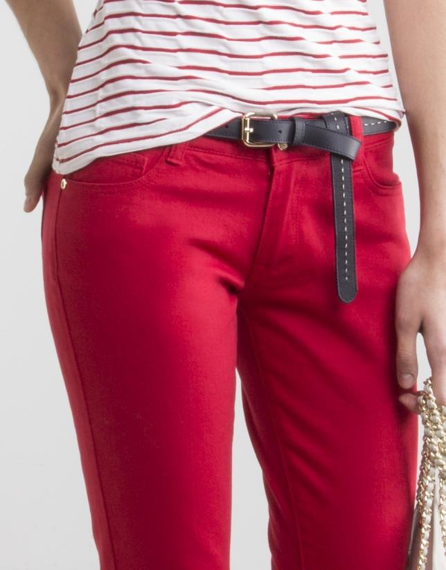 Pantalón strech rojo