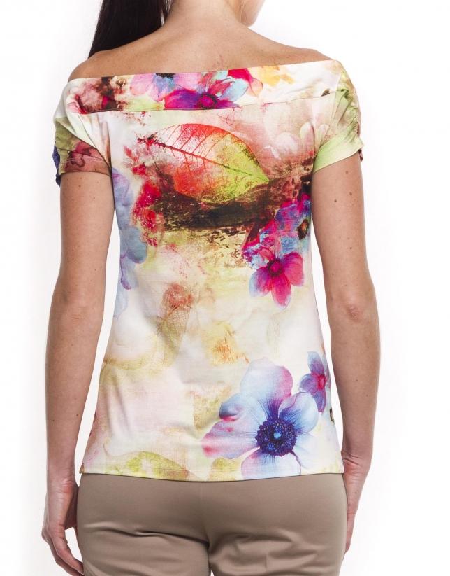 Camiseta manga corta y cuello barco