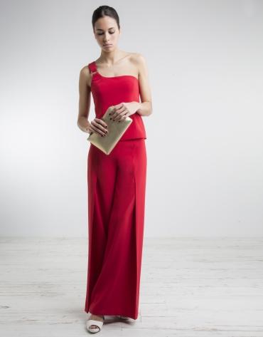 Pantalon ample rouge
