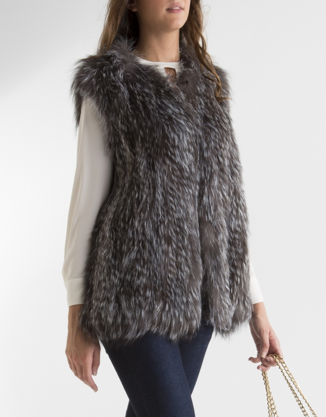 Grey fox vest