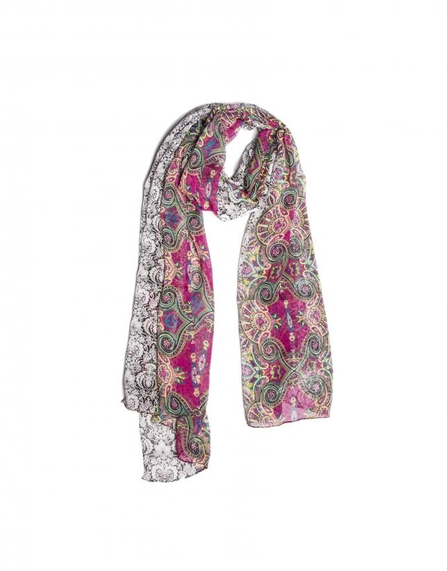 Geometric print scarf