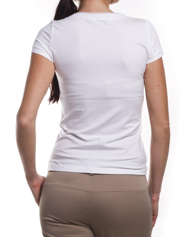 Short sleeve top  with round neck