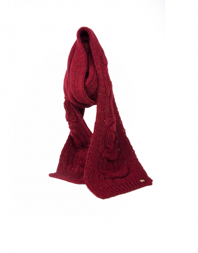 Mustard knit scarf