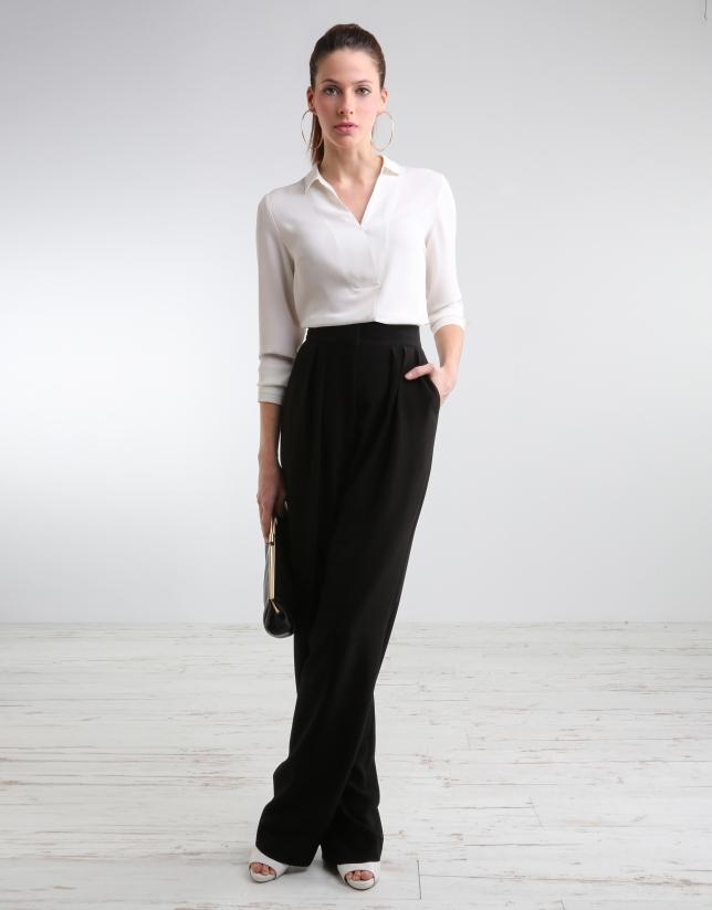 Pantalon ample noir