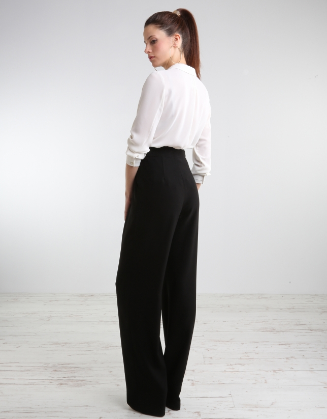 Black wide pants