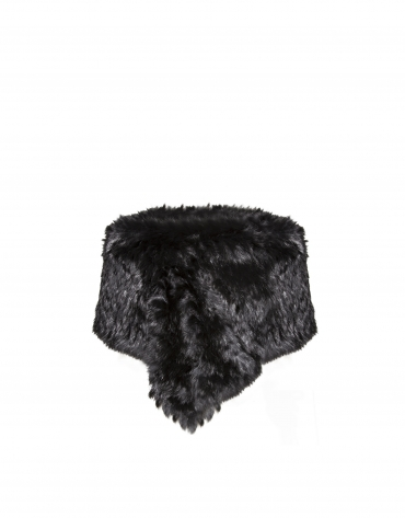Black rabbit fur shrug