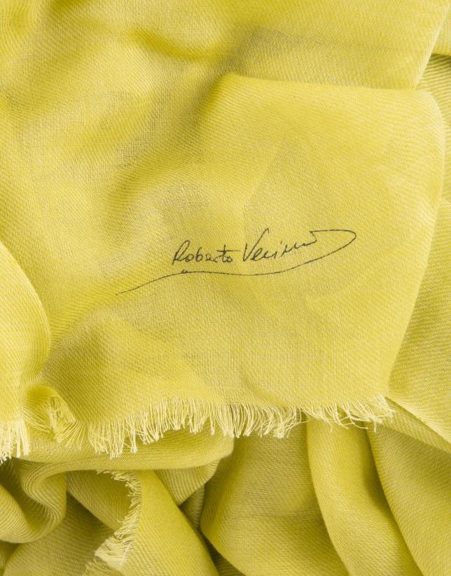 Plain lime scarf