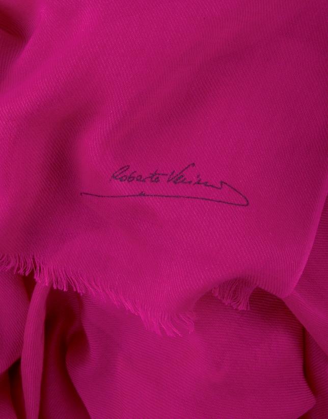 Plain fuchsia scarf