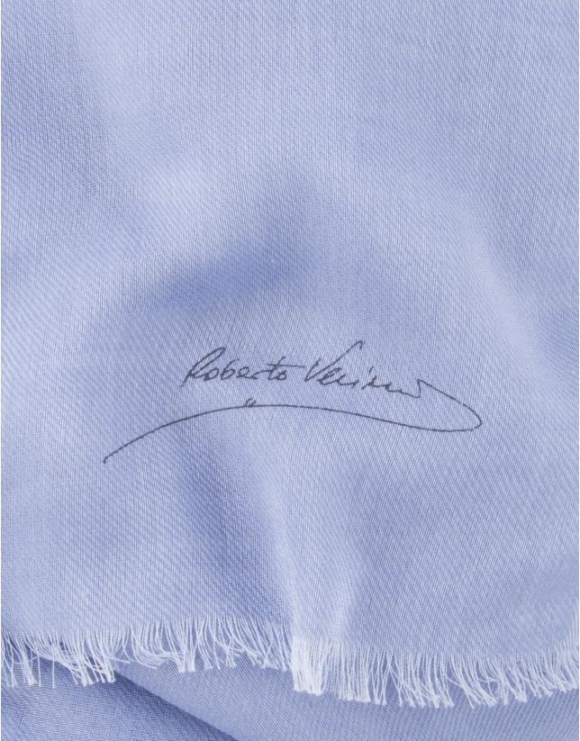 Plain medium blue scarf