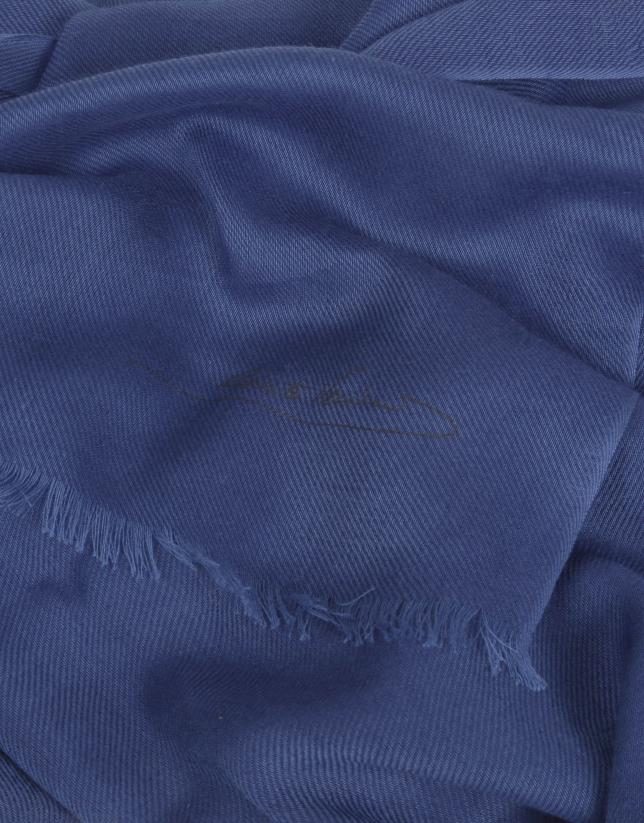 Foulard liso marino