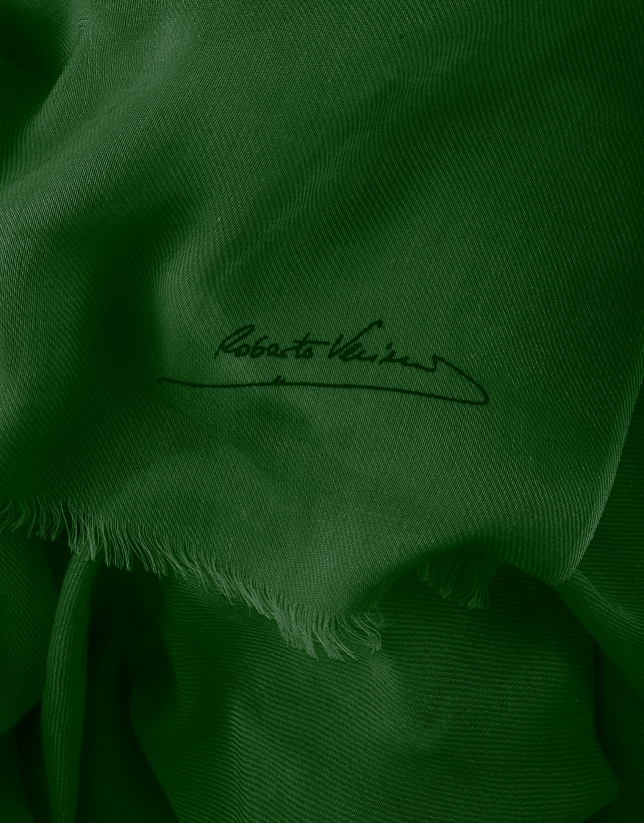 Foulard liso verde oscuro