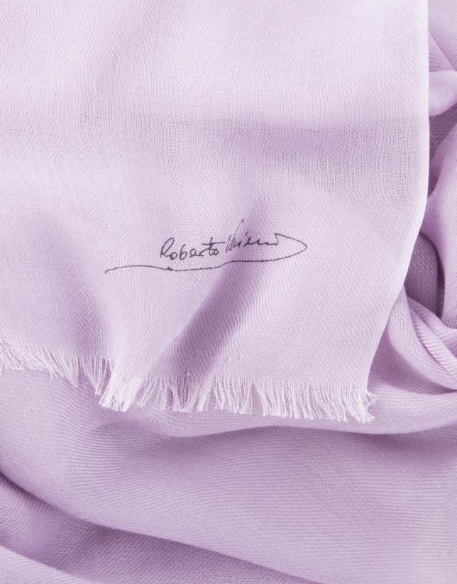 Foulard liso rosa fucsia