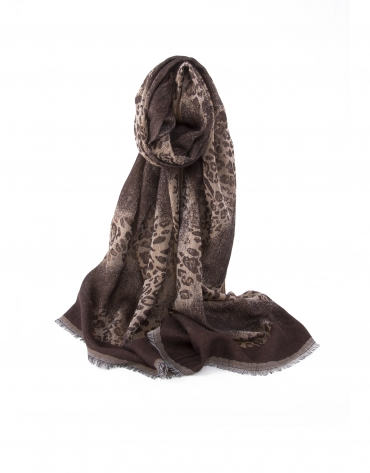 Brown animal print scarf