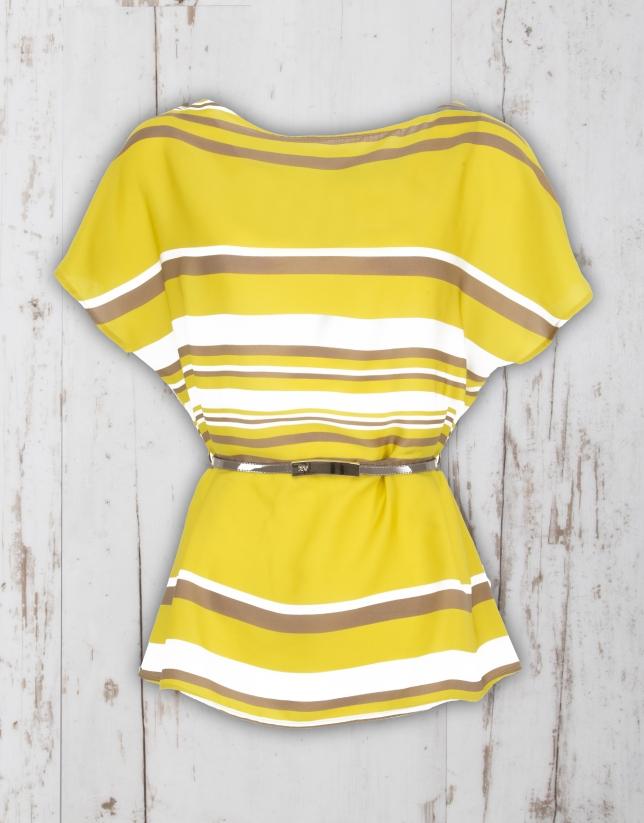 Blusón rayas amarillo