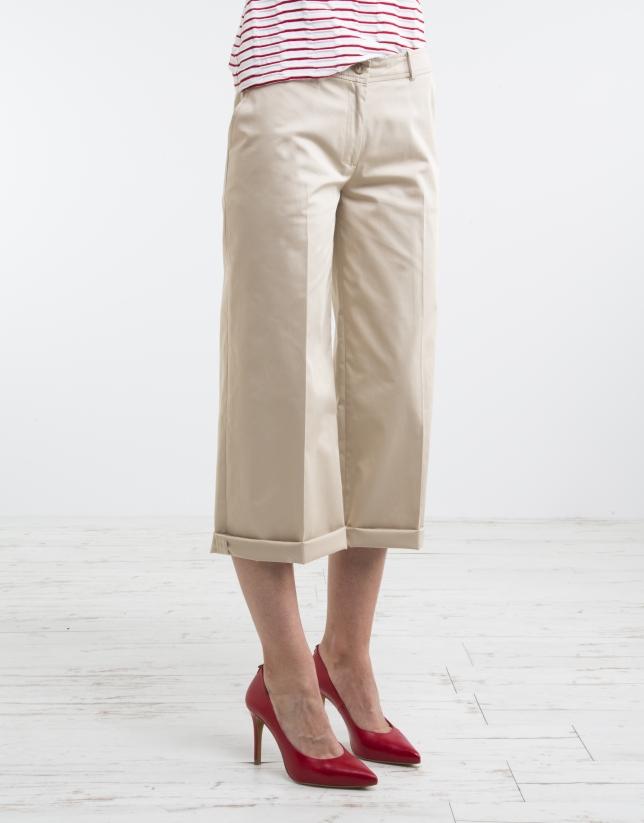 Pantalón culotte camel
