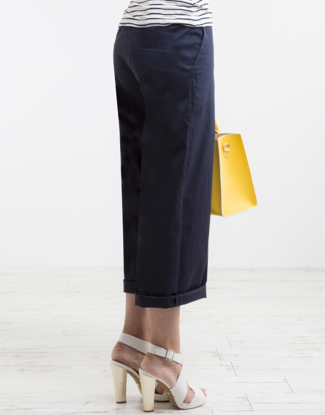 Blue culottes